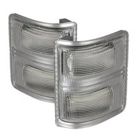 xTune Ford Superduty 08-14 F250-F550 Amber LED Mirror Signal Lens - Clear ACC-LED-FDSD08-MR-C