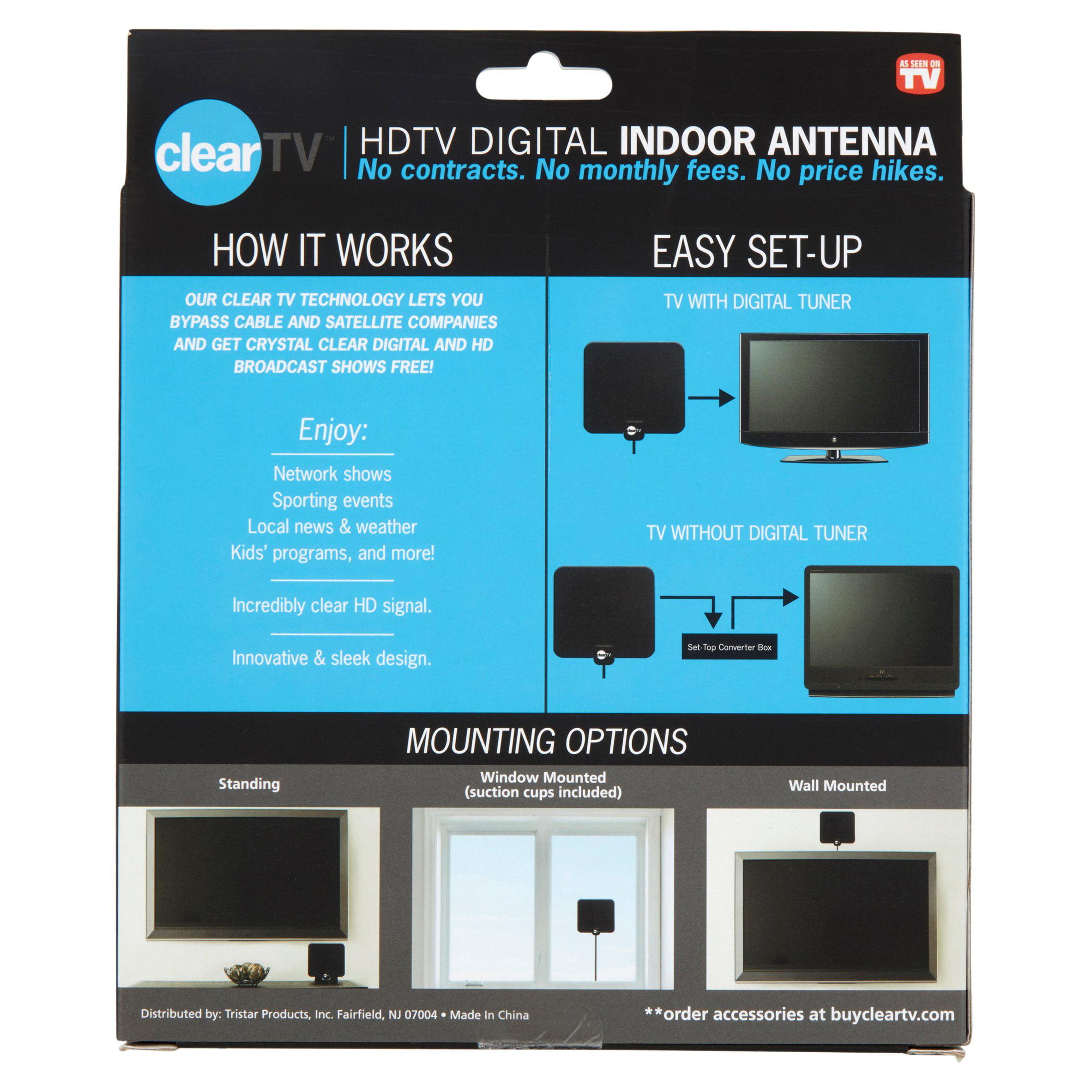 HDTV Digital Indoor Antenna, Broadcast Network TV in HD - Walmart.com