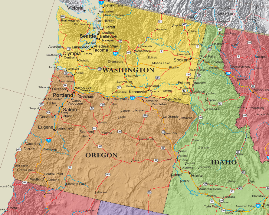 USA Contemporary Elite Wall Map Poster 48x78 LAMINATED 48x78 Huge United States