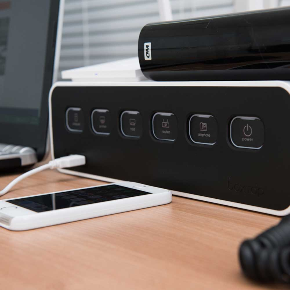 BOXTAP [LED Switch] Cable Organizer   Power Management System by Karen Deals