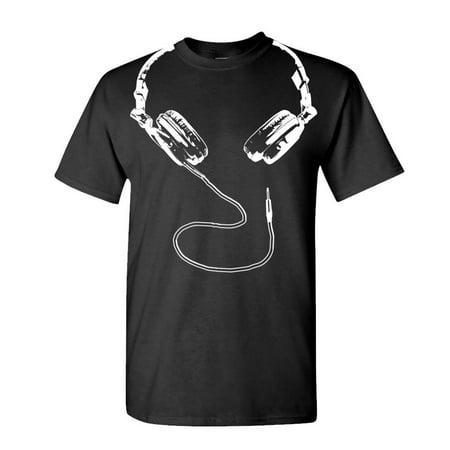 DJ HEADPHONES - funny techno hip hop music - Cotton Unisex