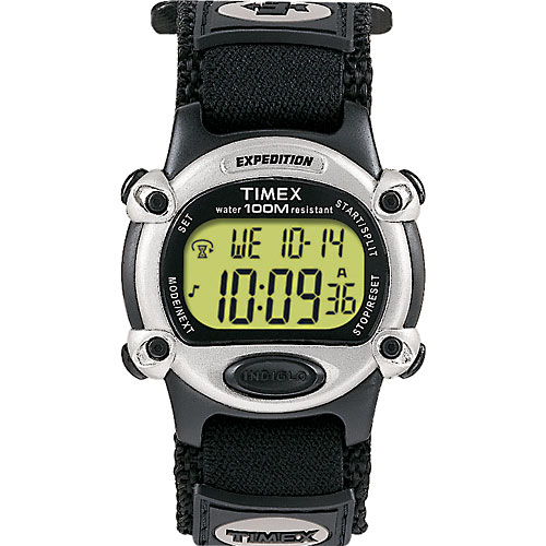 Timex Men's Expedition Digital CAT Watch, Black Fast Wrap Velcro Strap
