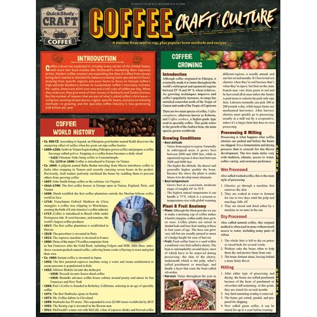 Coffee - Craft & Culture : Laminated Reference Guide to Beans, Brewing, Drinks & More