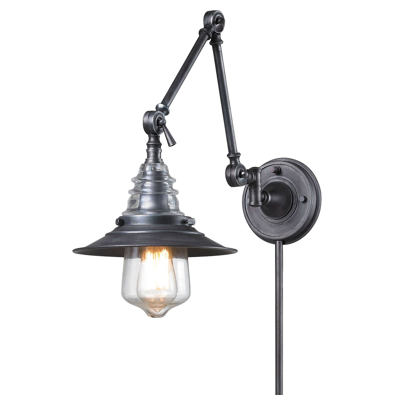Elk Lighting Insulator Glass 668 Swing Arm Light by Elk Lighting