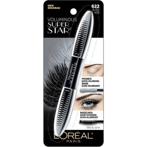 L Oreal Paris Voluminous Superstar Washable Mascara Black Noir 0 41 Fl Oz Walmart Com Walmart Com