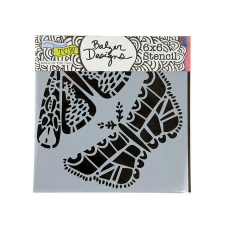 Stencils folk art moths, 6 in. x 6 in. (pack of - Folk Art Stencils