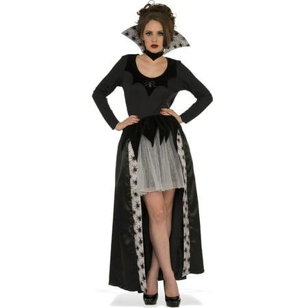 Spider Queen Adult Women Gothic Witch Vampire Halloween Costume-Std