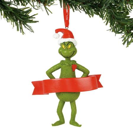 Department 56 Dr. Seuss 6000306 Grinch Personalizable Ornament - Dr Seuss Christmas Decorations