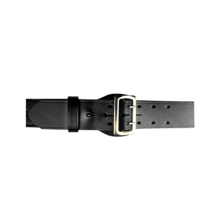 Br Block - BOSTON LEATHER 6500 SERIE BELT SAM BR LEATHER Belt Size: 42 Buckle: Brass Color: Black Finish: Basket Weave