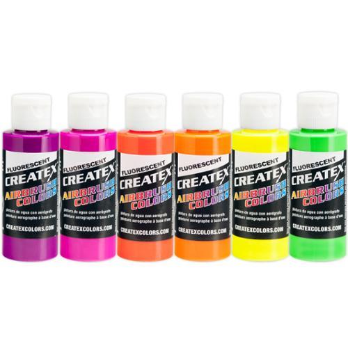 Createx Colors 2 oz Fluorescnt Airbrush Paint Set