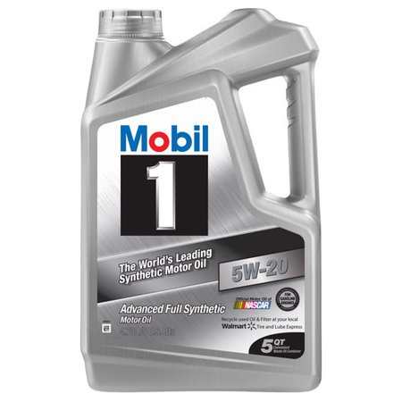(6 Pack) Mobil 1 5W-20 Advanced Full Synthetic Motor Oil, 5 qt.
