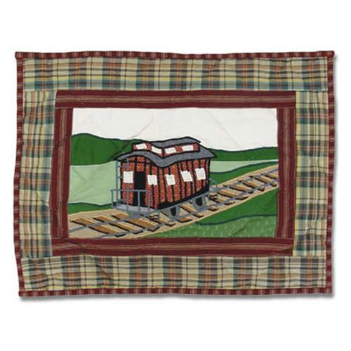 Patch Magic Train Cotton Boudoir/Breakfast Pillow