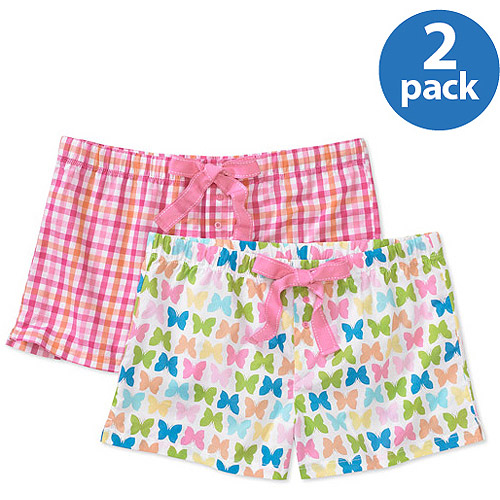 Women's Plus-Size Woven Sleep Shorts, 2-Pack