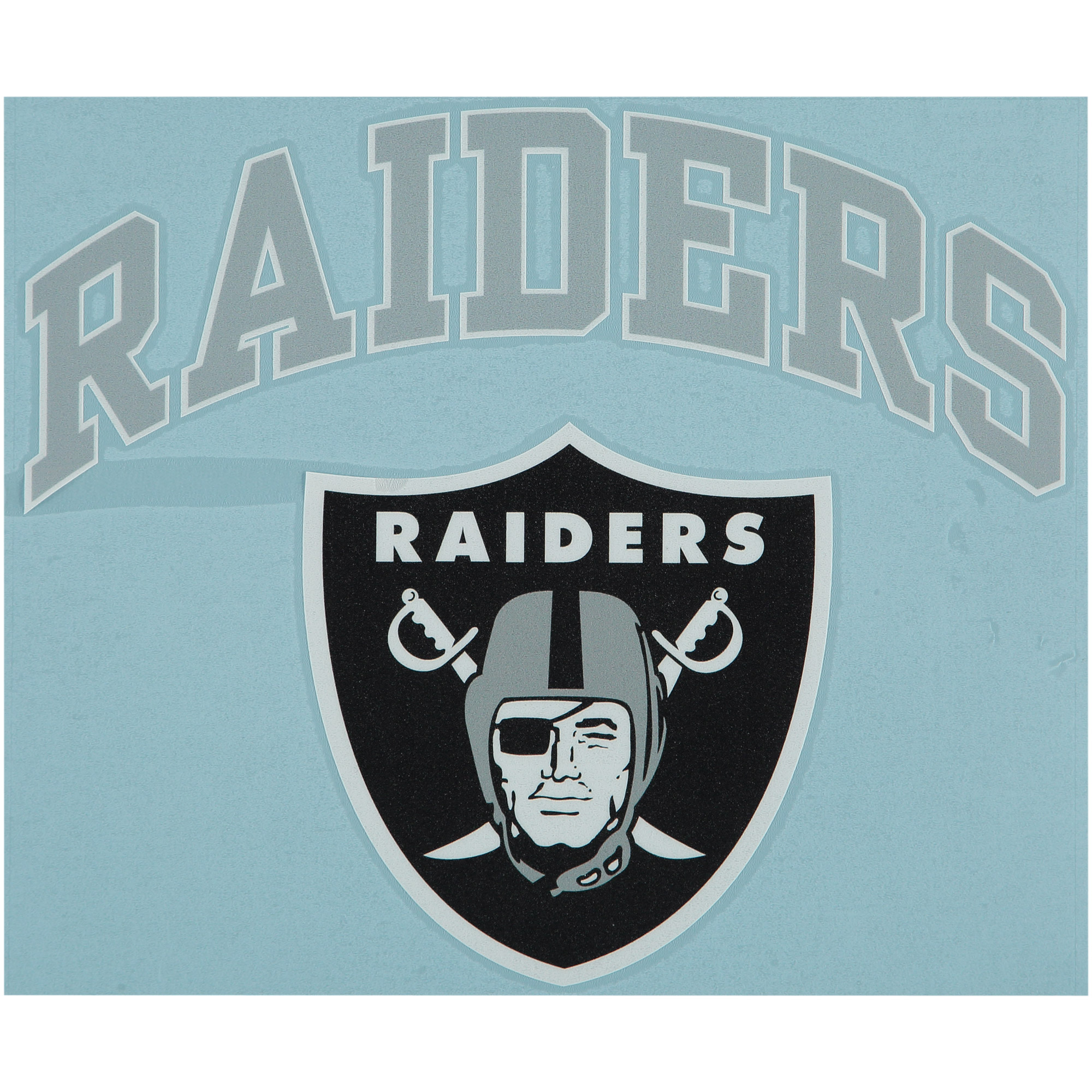 "Oakland Raiders 12"" x 12"" Arched Logo Decal - No Size"