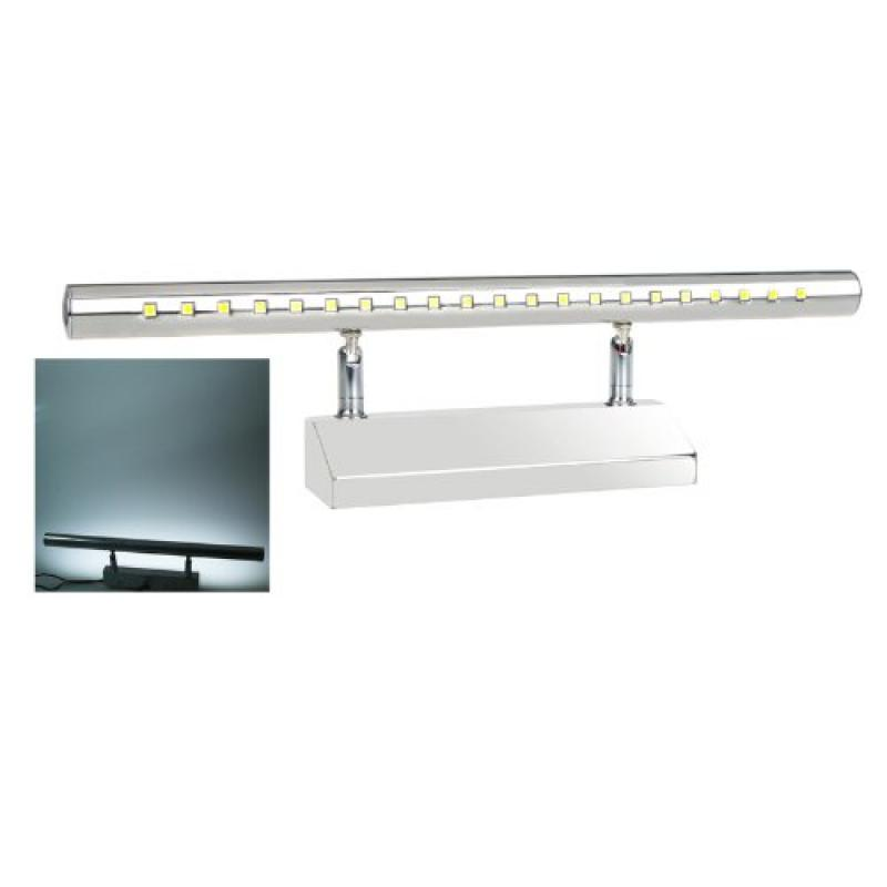 Docooler 5050 SMD 21-LED 5W Mirror-front Lighting Wall Lamp with Switch Stainless Steel Bathroom 85-220V (White)