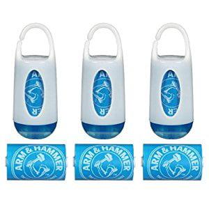 Munchkin Arm & Hammer Diaper Bag Dispensers and Bags, Set of 3, Blue