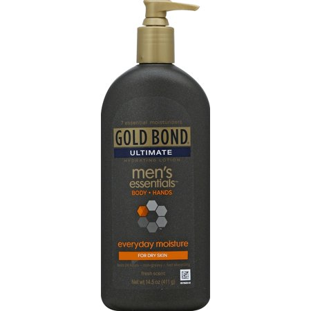 MEN'S BODY LOTION & HAND LOTION: GOLD BOND Ultimate Men's Everyday Moisture is a skin lotion with a fresh scent that's rich and nourishing for dry skin.