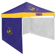 East Carolina Pirates NCAA 9 x 9 Economy 2 Logo Pop-Up Canopy Tailgate Tent With Side Wall