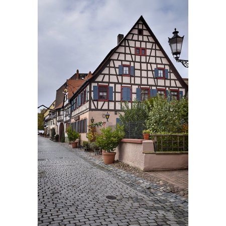 Laminated Poster Truss Hesse Ladenburg Old Town Germany Poster Print 24 X 36