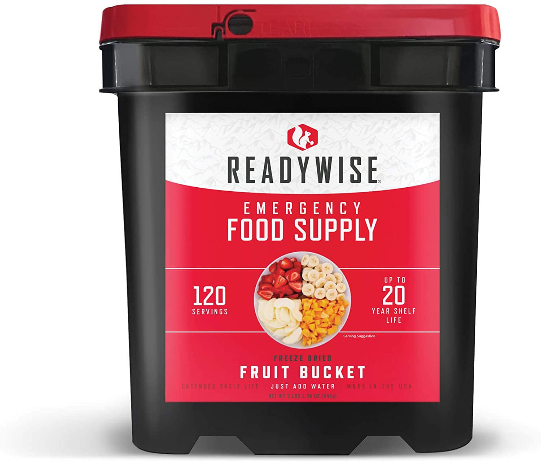 Wise Company ReadyWise, Emergency Food Supply, Emergency Freeze Dried Fruit  Bucket, 120 Servings - Walmart.com - Walmart.com