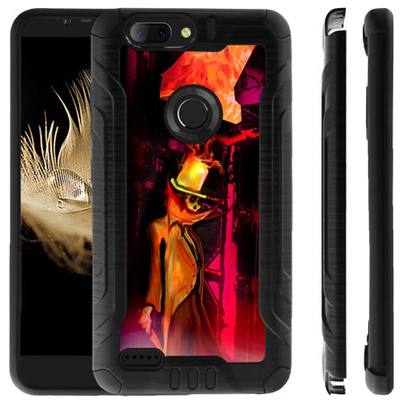 Exclusive Designs ZTE SEQUOIA   ZTE Z MAX PRO 2 Hard Cover, [Pro-Tech] Brushed Metal Advanced Tech Hybrid Case Dual Layer Shockproof Corners by Miniturtle - Top Hat Demon