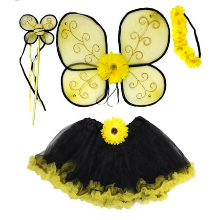 Girls Bumble Bee Costume Age - Bumble Bee Homemade Halloween Costumes