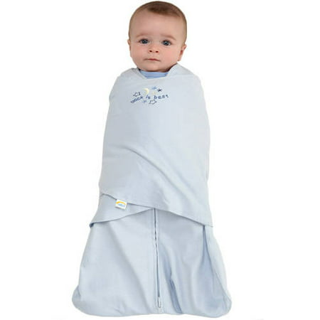 HALO SleepSack Swaddle, 100% Cotton, Baby Blue, (Sleep Sheep Baby)