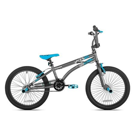 X-Games FS20 Single Speed 20-Inch Wheel Freestyle Trick BMX Bike, Dark
