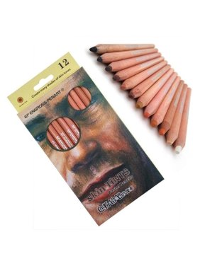 12Pcs Professional Soft Pastel Pencils Wood Skin Tint Pastel Colored Pencil GP3