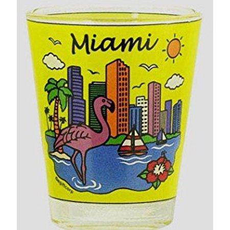 Miami Florida Skyline Yellow Shot Glass](Yellow Shots)