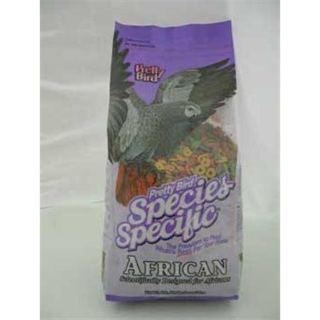 International Species Specific African Bird Food- 8-Pound, Premium bird food is designed for most African species, medium and large conures, contains.., By Pretty