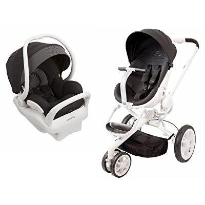 quinny moodd stroller in black irony with 2015 maxi-cosi mico max 30