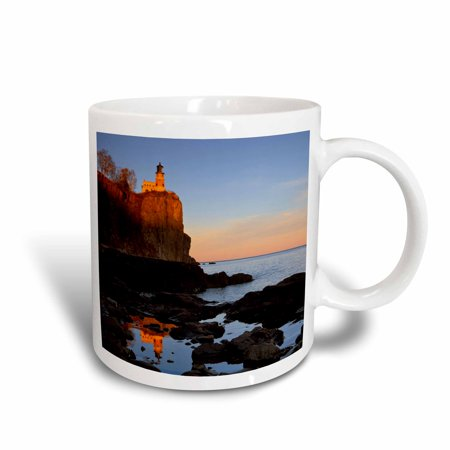 3dRose Split Rock Lighthouse, Two Harbors, Minnesota - US24 CHA0071 - Chuck Haney, Ceramic Mug, 11-ounce