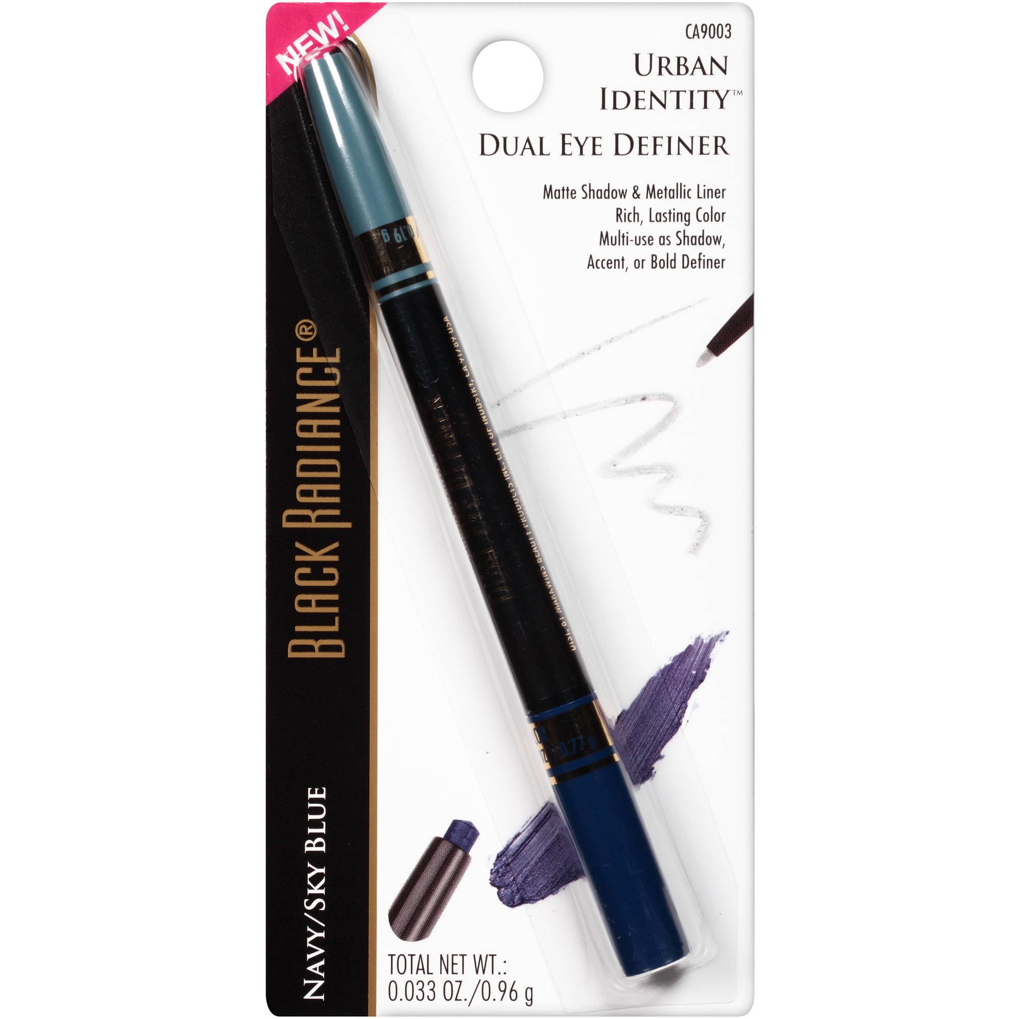 Black Radiance Urban Identity Dual Eye Definer, CA9003 Navy/Sky Blue, 0.033 oz