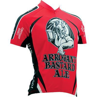 Canari Short Sleeve Jersey (Canari Cyclewear Mens Arrogant Bastard Ale Short Sleeve Cycling Jersey - 1272 (Red - S))