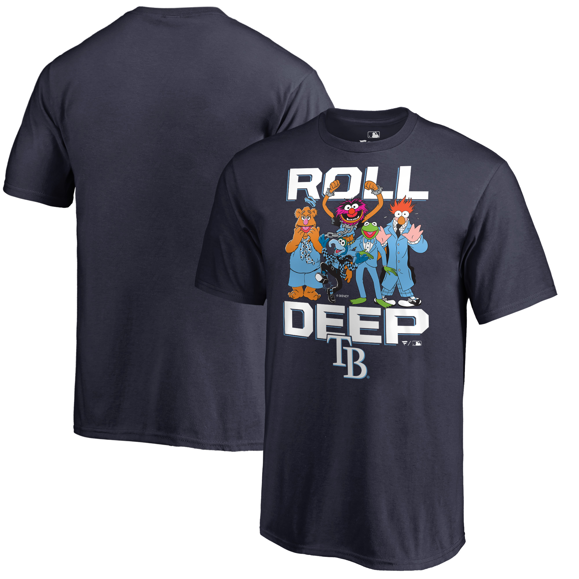 Tampa Bay Rays Fanatics Branded Youth Muppets Roll Deep T-Shirt - Navy