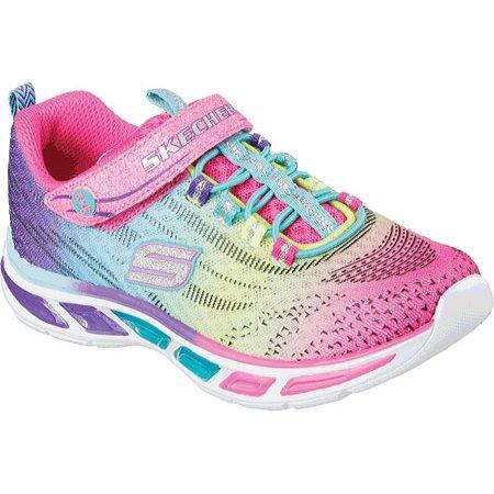 777dfa5aadaa Skechers - Girls  Skechers S Lights Litebeams Bungee Lace Sneaker ...