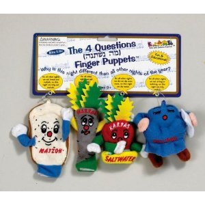 Passover Finger Puppets - The Four Questions - Set Of 4