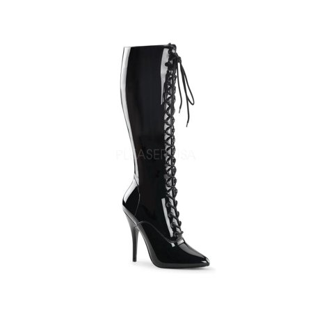SED2020/B Pleaser Single Soles Knee High Boots BLACK Size: 11
