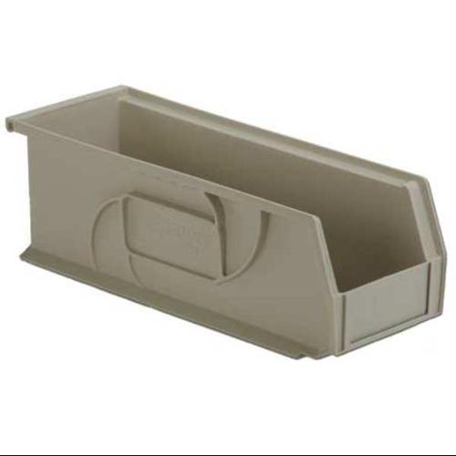 Lewisbins 40 lb Capacity, Hang and Stack Bin, Stone PB1405-5 Stone