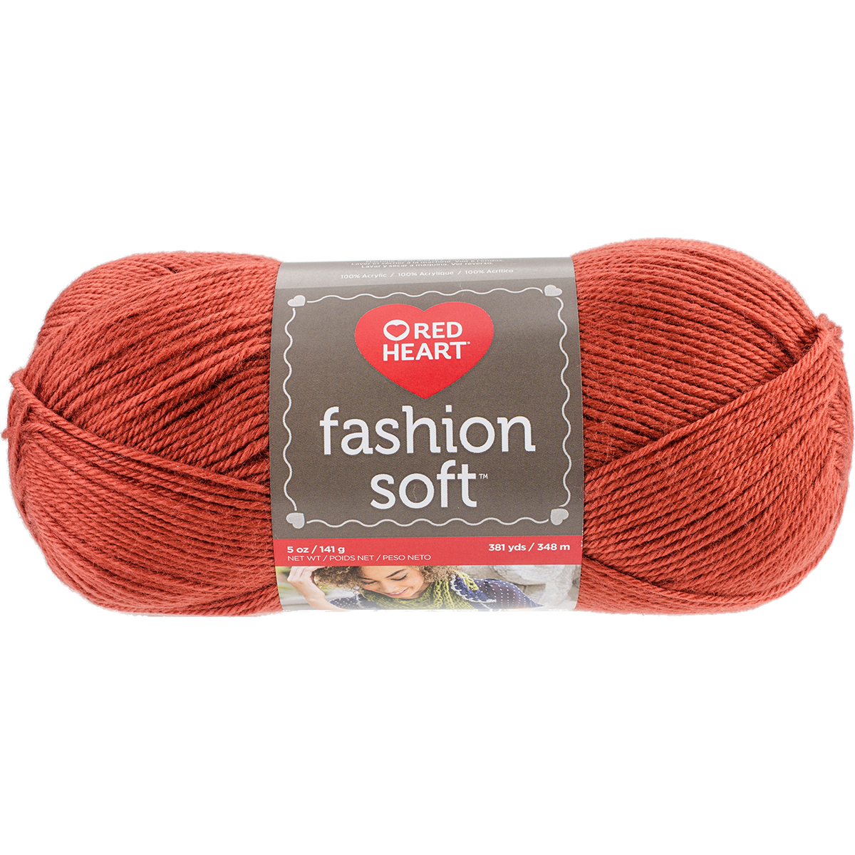 Red Heart Fashion Soft Yarn-Nutmeg
