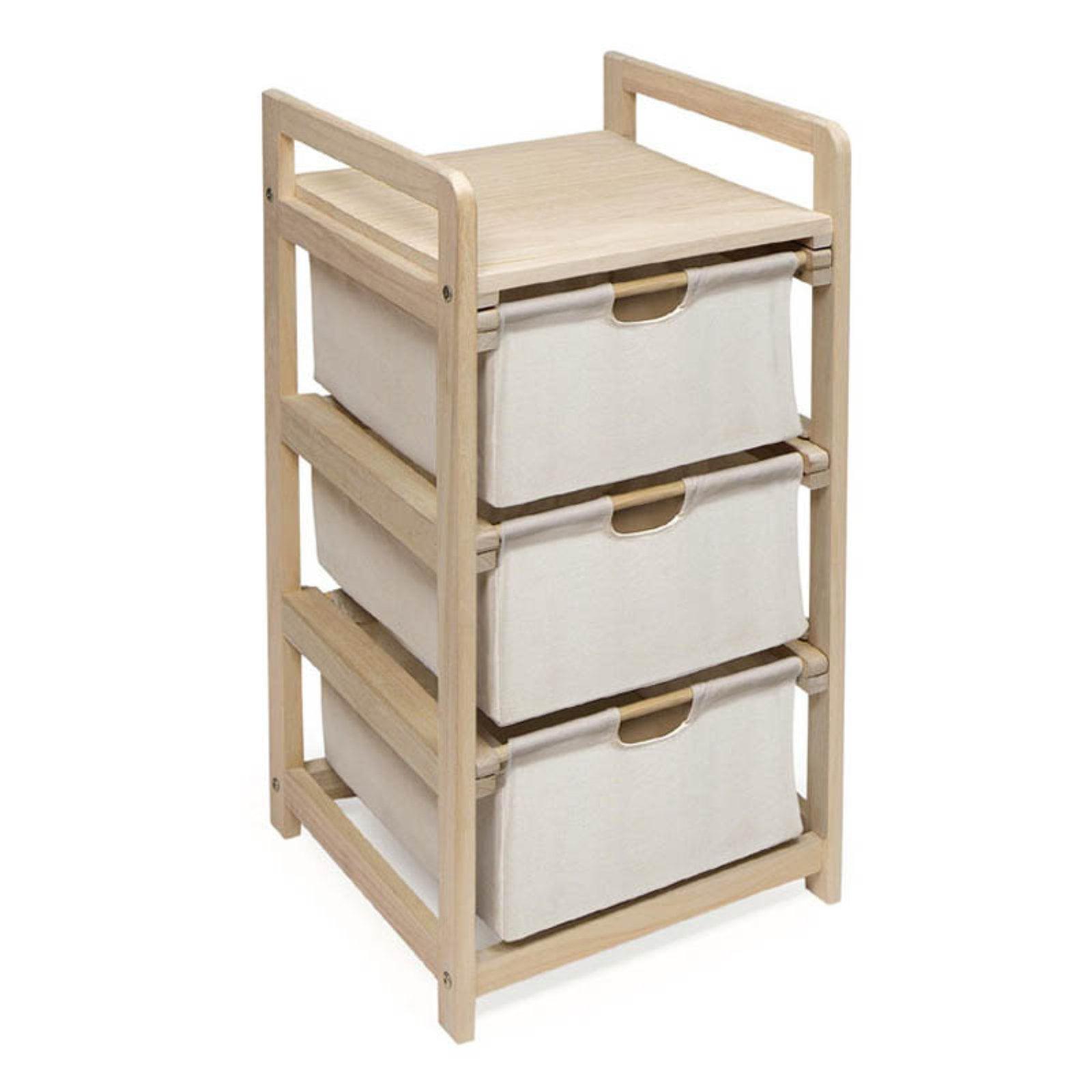 Cherry Three Drawer Hamper/Storage Unit