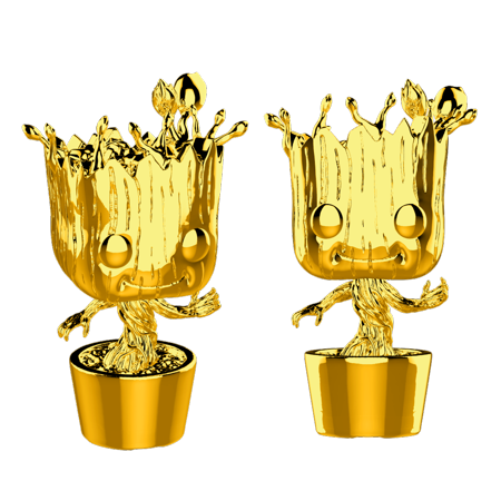 Funko Pop! Marvel: Marvel Studios 10 - Groot (Chrome Gold)