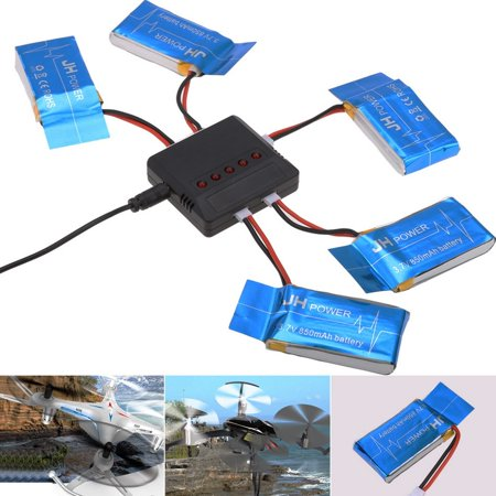 Drone Replacement Spare Parts 5 Battery   1 Usb Charger For Syma X5sw X5sc X5c Smt