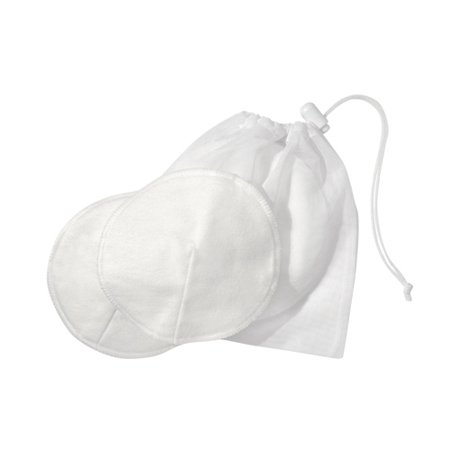 Contoured Disposable Breast Pads - Medela Cotton Washable Bra Pads w/Laundry Bag