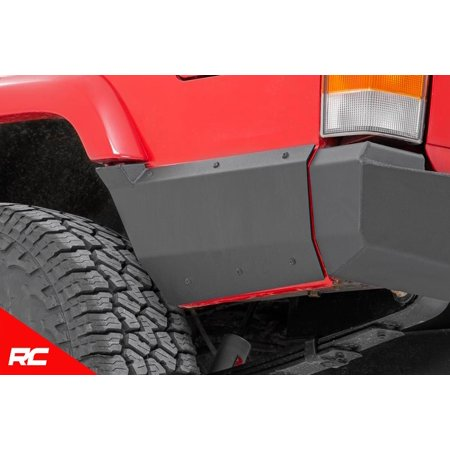 Rough Country Rear Lower Quarter Panel Armor Fits 1997-2001 [ Jeep ]  Cherokee XJ Rear 10571