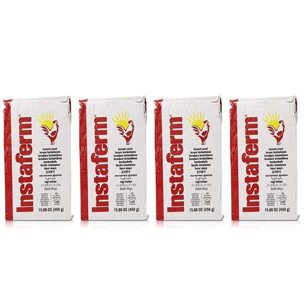 Instaferm Red Instant Dry Bakers Yeast 4 Pack Walmart Com Walmart Com
