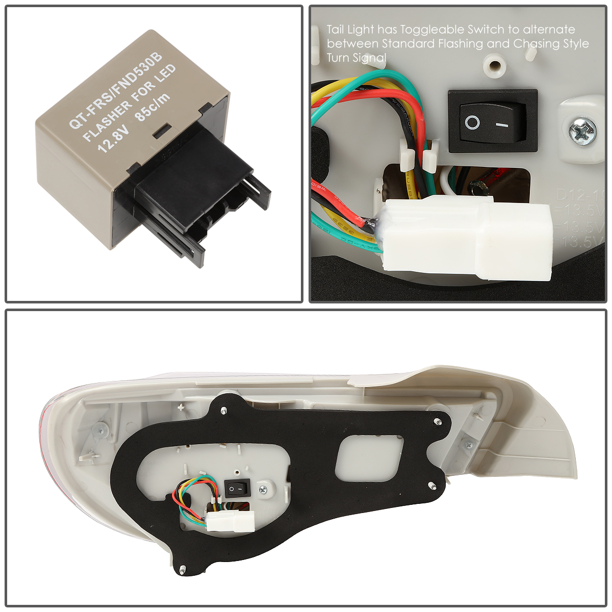 For 13 17 Frs Brz 86 Pair Of Led Arrow Sequential Tail Light Relay Switch Walmart Chrome Housing Smoked Lens Red Signal