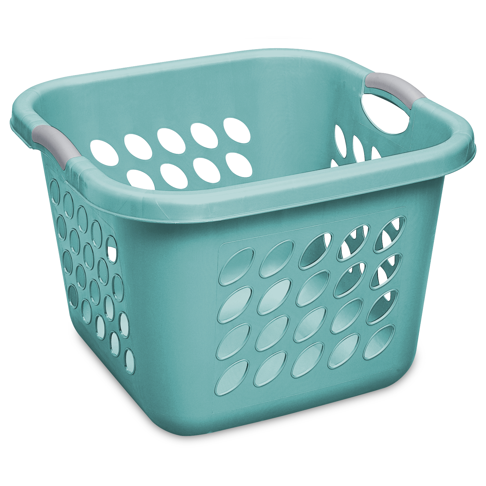 Sterilite 1.5 Bushel/53 L Ultra™ Square Laundry Basket, Teal Splash