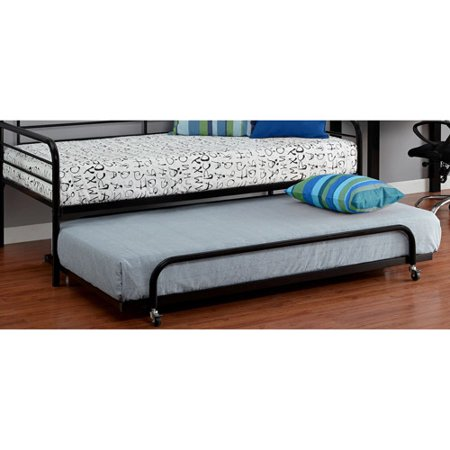 twin metal daybed trundle black